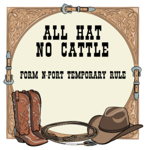 all hat no cattle form n-port